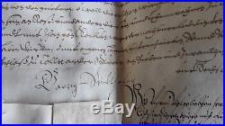 Rare Manuscrit sur Velin Johan Sigismundt Brandenburg 1616 Sceaux en Cire Blason