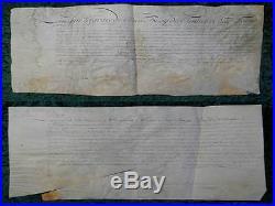 Rare! Roi Louis Xv. Parchemin Manuscrit Certificat Versailles 1725 #b667s