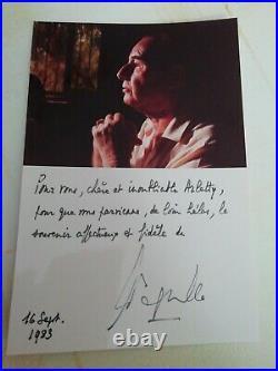 Rare carte dédicacé par Léon Degrelle pour l'actrice Arletty collection privée