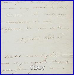 Rare lettre de Louis-Napoléon Bonaparte, envoyée du Fort de Ham