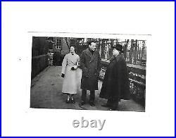Rare photo amateur de L-F CELINE avec Elisabeth CRAIG à Beauvais en 1933