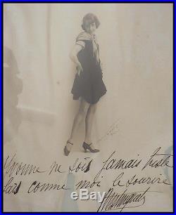 Rare photographie avec dédicace autographe de MISTINGETT vers 1905