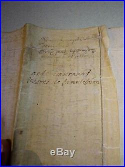 Rarissime Acte Manuscrit XV / XVI Moyen Age Renaissance Parchemin Velin 1500