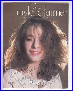 Rarissime Photo / Carte Rca Maman A Tort Dedicacee Par Mylene Farmer En 1984