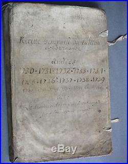 Recette du Taillon de BRETAGNE. Rennes, Léon, Tréguier, St Malo, Nantes. 1730.1745