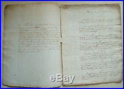 Règles du Jeu des Echecs. Manuscrit ancien. Philidor. Observation Fin de Parties