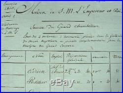 Rémunération des orchestres pour le mariage de Napoléon