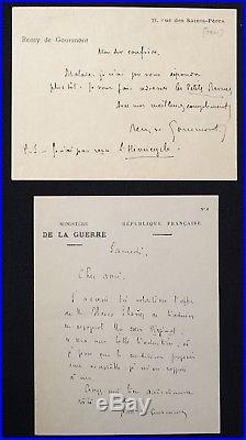 Remy & Jean de GOURMONT autographes