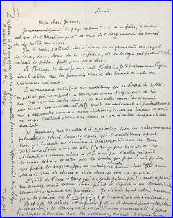 René MAGRITTE Lettre autographe signée à propos de son exposition à Verviers