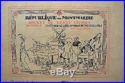 République de Montmartre Brevet de Vertu Civique Signatures Fondateurs Peintres