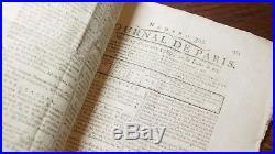 Révolution 1789 LOT DE 17 JOURNAUX revolutionnaire le journal de paris