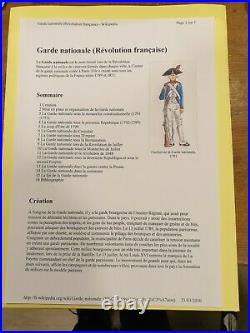 Revolution Brevet De La Garde Nationale Versailles 1792