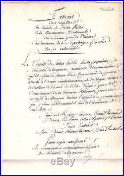 Révolution / Comité De Salut Public / Lettre Signée Bouchotte (1794)