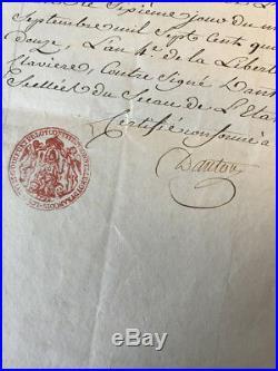 Révolution / Danton / Document Signé (septembre 1792) / Défense De Paris