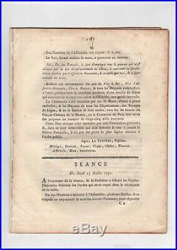 Révolution / Procès-verbal De La Fête De La Fédération (14 Juillet 1790) / Paris