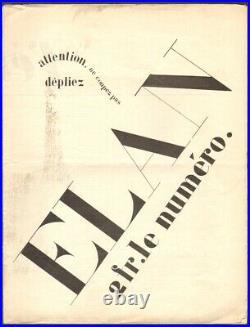 Revue. L'ELAN. N°10 1916. Ozenfant, Picasso, Apollinaire, Matisse, Max-Jacob