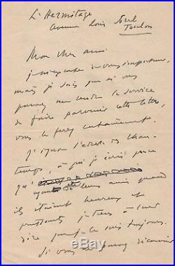 Reynaldo Hahn / Lettre Autographe Signée (1941) / Camille Chautemps / Proust