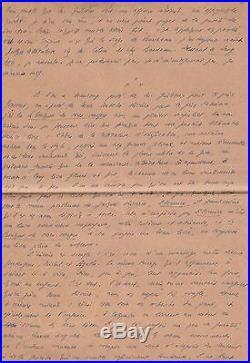 Robert Brasillach / Manuscrit Autographe / Litterature / L. F. Céline / L. Daudet