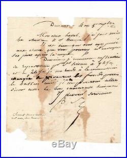Robert Surcouf / Lettre Autographe Signée (1826) / Corsaire / Saint-malo