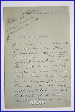Robert de Flers Lot Lettres autographes signées Marthe Régnier XIX eme
