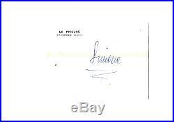 Romy SCHNEIDER Lettre Autographe Signée / 1963