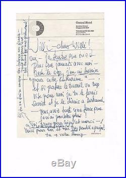 Romy Schneider / Lettre Autographe (1979) / À Son Amant / Bertrand Tavernier /
