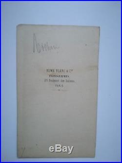 Rossini autographe signé. Photo dédicacée à la fille de son éditeur 1861