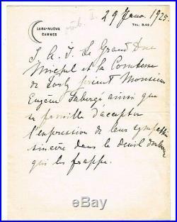 Russie / Romanov / Le Grand Duc Michel A Eugene Faberge De Cannes En 1925