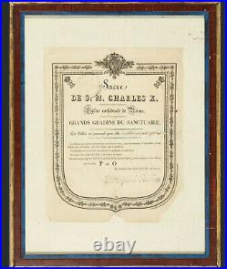 SACRE Charles X Roi de France 1824 autographe invitation