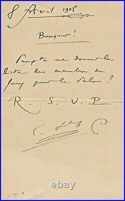 SAINT-SAËNS (Camille) compositeur français (1835-1921)