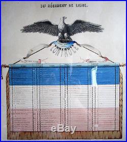 SECOND EMPIRE TABLEAU DE CONTRÔLE DU 34e RÉGIMENT DE LIGNE DU CAPITAINE GODET