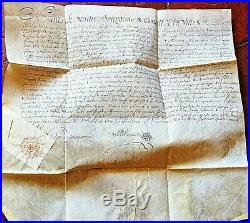 SUISSE Landeron 1797 Lettre de reception à Bourgeois famille Vicomte de Flavigny