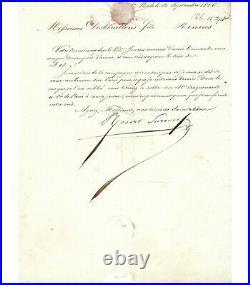SURCOUF Robert, marin et corsaire. Lettre Signée (G 3837)