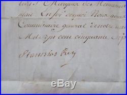 S. LESZCZYNSKI. LECZINSKI. Roi de Pologne. Parchemin signé pour L. C. Fussey Marquis