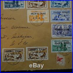 Saint Pierre Et Miquelon Devant De Lettre Recommande Cover France Libre