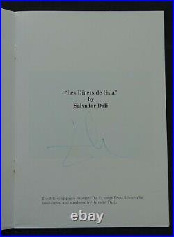 Salvador DALI autographe #2
