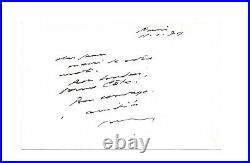 Samuel BECKETT / Lettre autographe signée / Prix Nobel de littérature