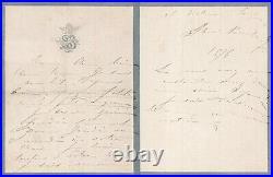 Sarah BERNHARDT actrice lettre autographe signée au peintre Gustave Doré