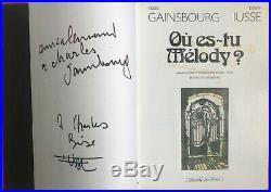 Serge GAINSBOURG Bande dessinée Où es-tu Melody dédicacée signée