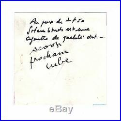 Serge GAINSBOURG / Billet Autographe / Promotion Gitanes blondes