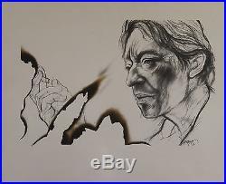 Serge GAINSBOURG Gravure originale entoilée de ERNEST PIGNON-ERNEST 1991