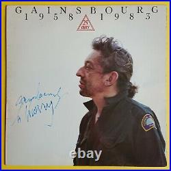 Serge Gainsbourg (1928-1991) Rare album dédicacé en personne Paris 80s