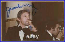 Serge Gainsbourg (1928-1991) Rare photo signée en 1977 Coll. Michel Clare