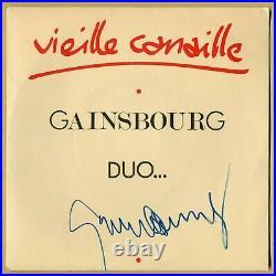 Serge Gainsbourg (1928-1991) Rare single (45T) signé en personne Paris 80s
