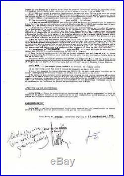 Serge Gainsbourg / Contrat Signé Et Paraphé (1979) / Autographe