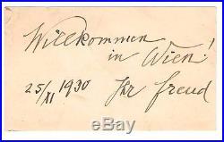 Sigmund Freud Billet Autographe Signé