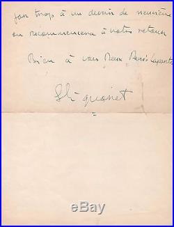 Simone Signoret / Lettre Autographe / En-tête Yves Montand