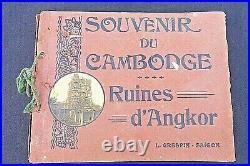 Souvenir du Cambodge Ruines d'Angkor L. Crespin-Saïgon Réf 223