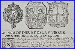 Spectaculaire contrat d'assurance maritime du XVIIIe siècle