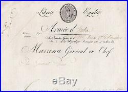 Superbe Et Rare Lettre De Massena Milan 15 Aout 1800
